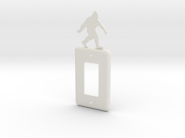 Sasquatch Light switch Cover in White Natural Versatile Plastic