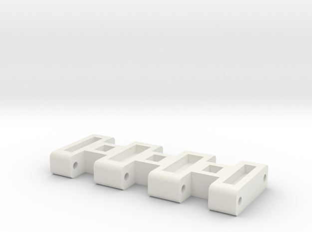 E-100 Track part 2 (spacer) 1/16 in White Strong & Flexible