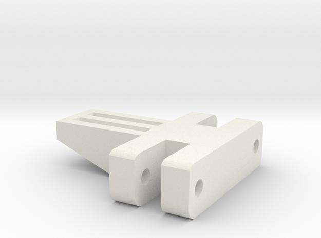 E-100 Track part 3 (small spacer)  1/16 in White Natural Versatile Plastic