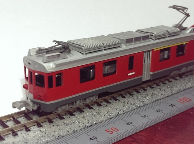 N scale Electoric car ABe4/4 54 in Smooth Fine Detail Plastic