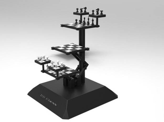 3D Chess 3d printed Isometric view