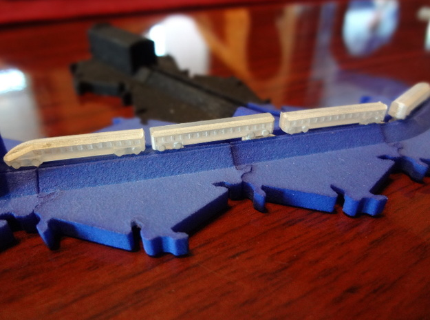 High Speed Train Set (track not included) in Frosted Ultra Detail