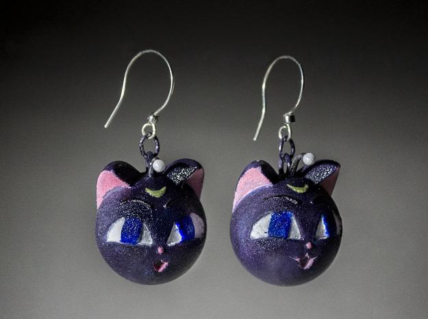 Luna P Sphere 1in Earrings 3d printed