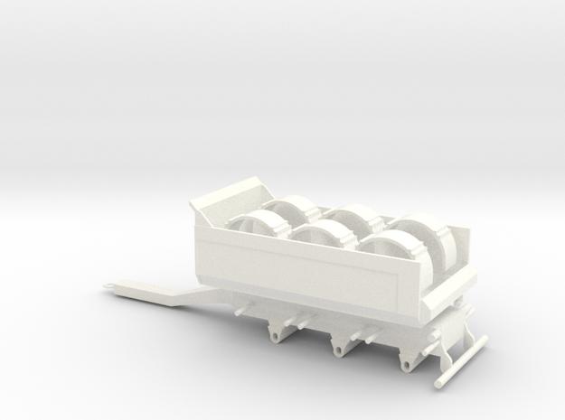 Tipphenger-kasse-rundskjerm in White Processed Versatile Plastic