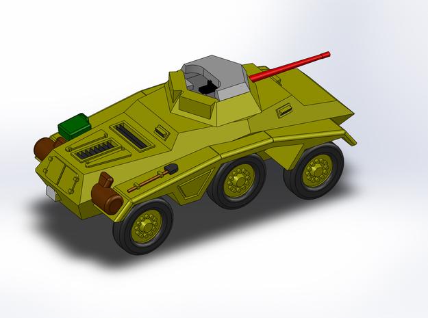 Le Panzerspähwagen 4-Rad trop MG 1/285 6mm 3d printed