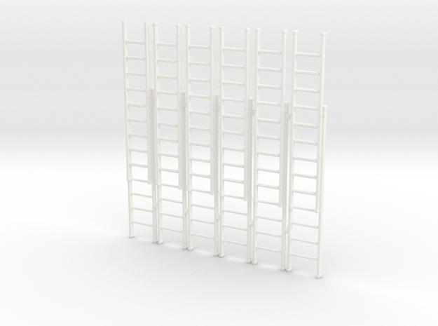 Ladder 02. O Scale (1:43) in White Processed Versatile Plastic