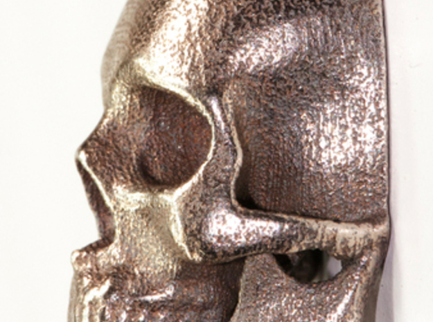 Human Skull With Loop 3d printed stainless steel print