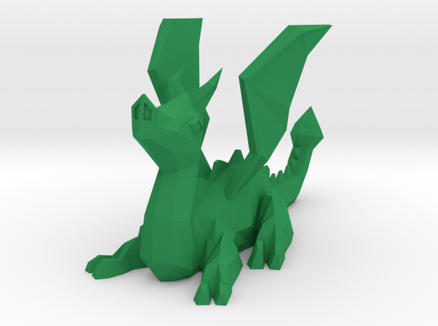Polydragon in Green Strong & Flexible Polished