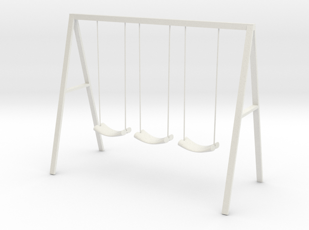 Swing set with rope seats in White Strong & Flexible