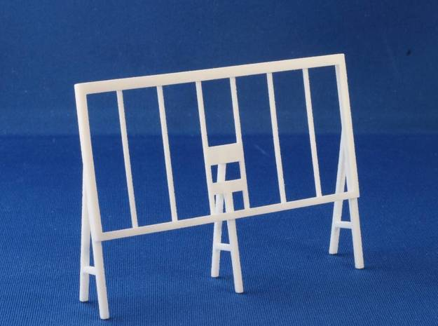 Wooden Billboard Frame HO Scale in White Natural Versatile Plastic