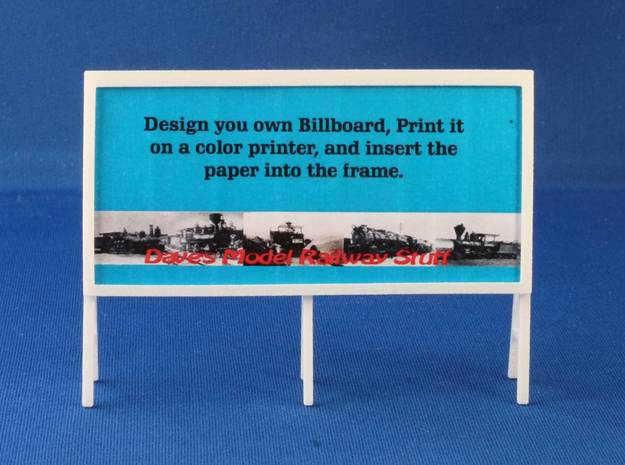 Billboard Frame HO Scale-Pole mounted 1 3d printed