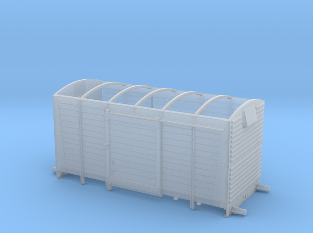 LMS 12 ton Vent Van body, no roof - 4mm scale in Smooth Fine Detail Plastic
