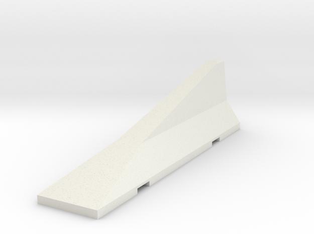1/35 CONCRETE-JERSEY-TRANSITION in White Natural Versatile Plastic