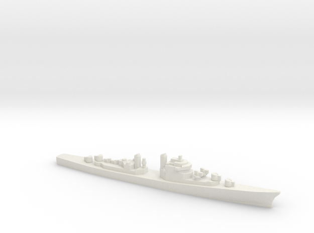 USS DL-01 Norfolk, 1/3000 in White Strong & Flexible