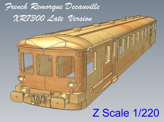 1-220 Remorque XR7300 Decauville 3d printed