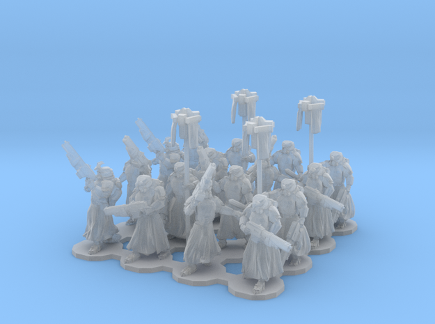 15mm Assualt Troops 16 w/ Standard Bearers