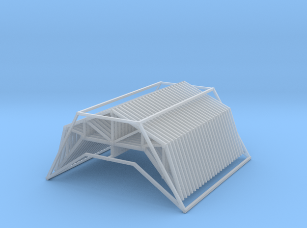Trusses 24ft X 12ft Z Scale in Smooth Fine Detail Plastic
