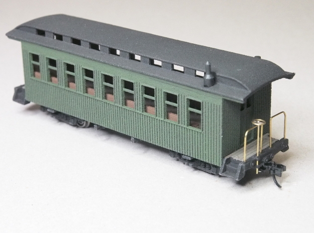 HOn30 30ft Coach B with Interior 3d printed