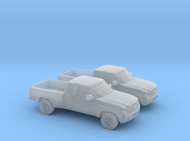 1/148 2X 2001 - 12 Ford Ranger in Smooth Fine Detail Plastic