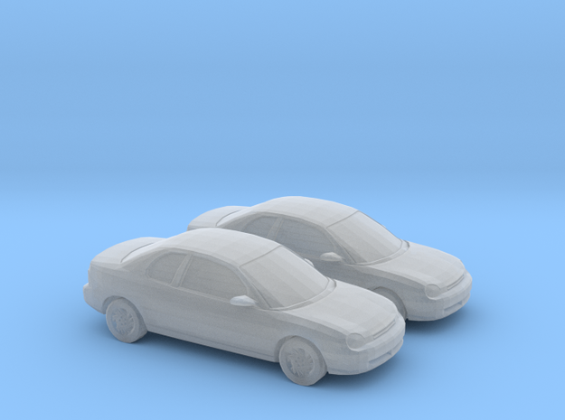 1/148 2X 1995 Dodge Neon Coupe in Smooth Fine Detail Plastic