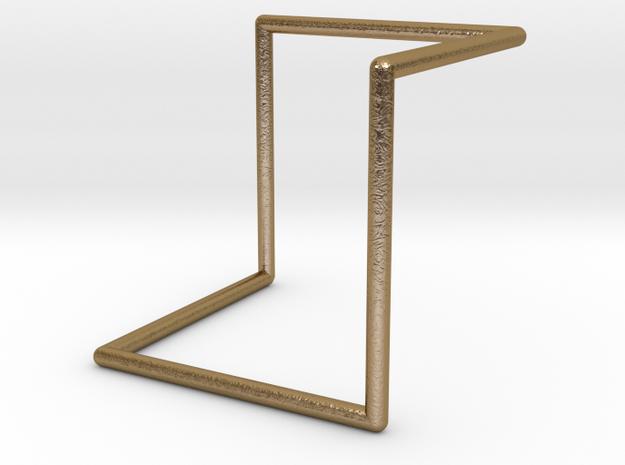 Single Loop Pendant in Polished Gold Steel