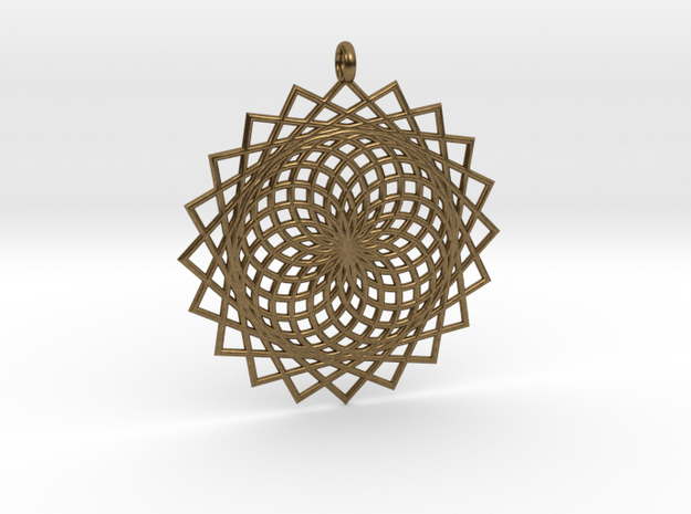 Flower of Life - Pendant 6 in Natural Bronze
