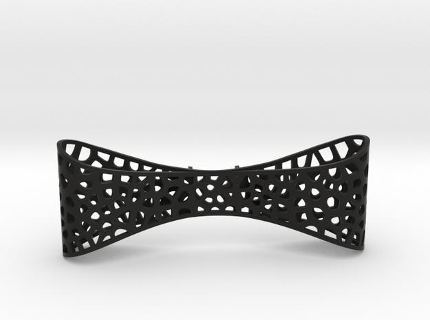 Bow Tie The Groomsmen in Black Natural Versatile Plastic