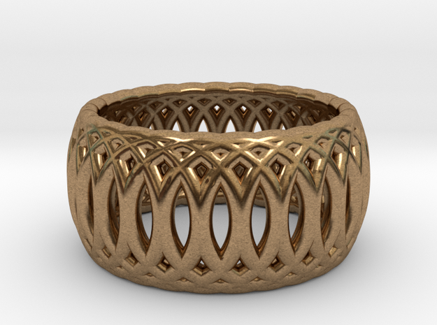 Ring of Rings - 17.5mm Diam in Natural Brass