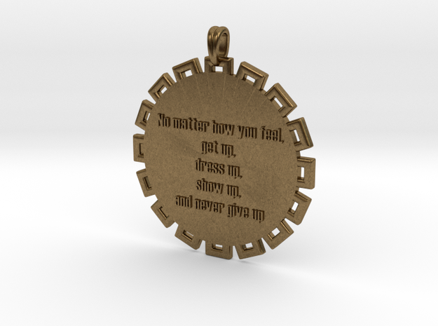 No Matter How You Feel | Jewelry Quote Necklace in Natural Bronze