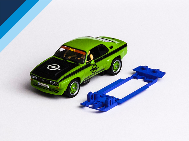 1/32 Carrera Opel Manta in Blue Strong & Flexible Polished