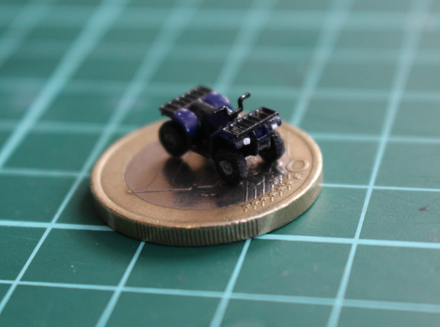 N Scale 2x Quad ATV in Smooth Fine Detail Plastic