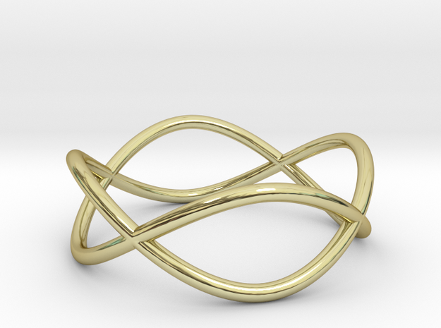 Size 7 Infinity Ring in 18k Gold Plated