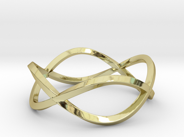 Size 7 Infinity Twist Ring in 18k Gold Plated