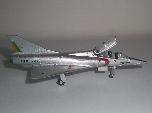 020A Mirage IIID - 1/144 3d printed Model built and painted by Luis von Glehn. Home made decals. Canopy was made with a thin plastic sheet