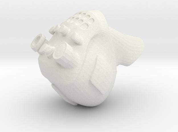 Beast Dancer Head in White Natural Versatile Plastic