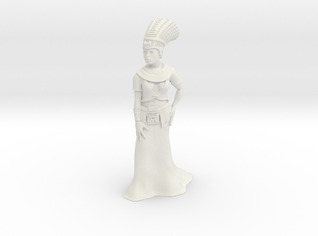 28mm Cleopatra in White Natural Versatile Plastic