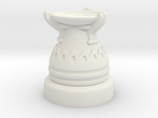 28mm Egyptian Cauldron  in White Natural Versatile Plastic