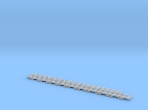 0524 Bahnübergang Rillen-Satz  in Smooth Fine Detail Plastic