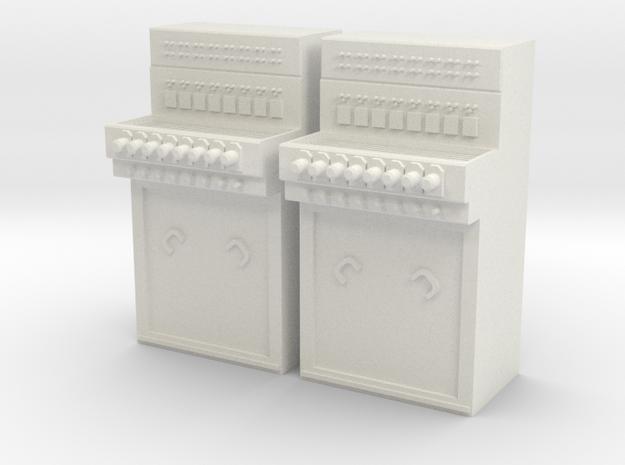 2x E43 Stelltisch Spur 1 in White Natural Versatile Plastic