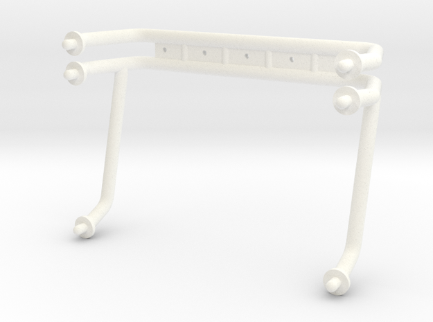KYOSHO USA-1 ROLLBAR in White Strong & Flexible Polished