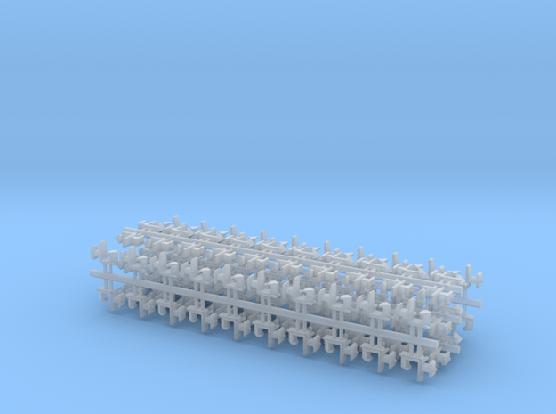 100 Rapido coupler 2mm shaft N Gauge 140316 in Frosted Ultra Detail