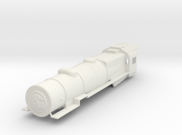 Prr L1 S Scale Shell Boiler Cab and Walkways V. 2 in White Natural Versatile Plastic
