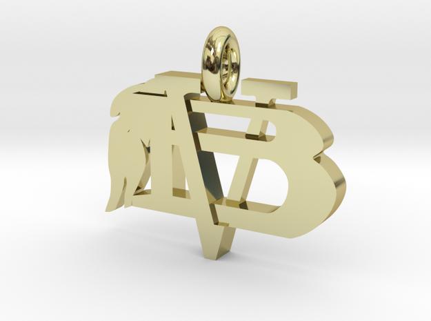 VBHSPendant in 18k Gold Plated Brass