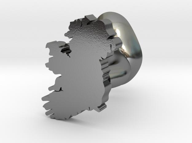 Sligo Cufflink in Polished Silver