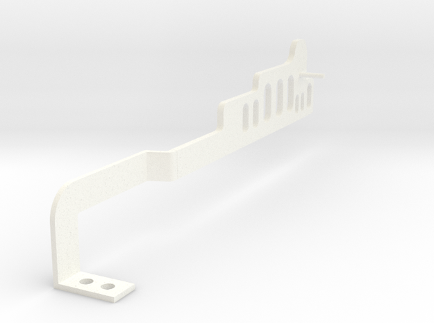 Side wall for Drop-on Jankó Piano Adaptor in White Strong & Flexible Polished