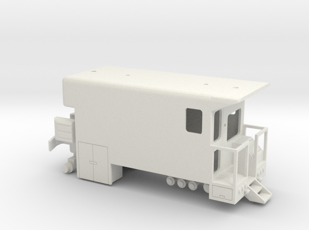 MOW Rail Detection Truck With Details 1-87 HO Scal in White Natural Versatile Plastic