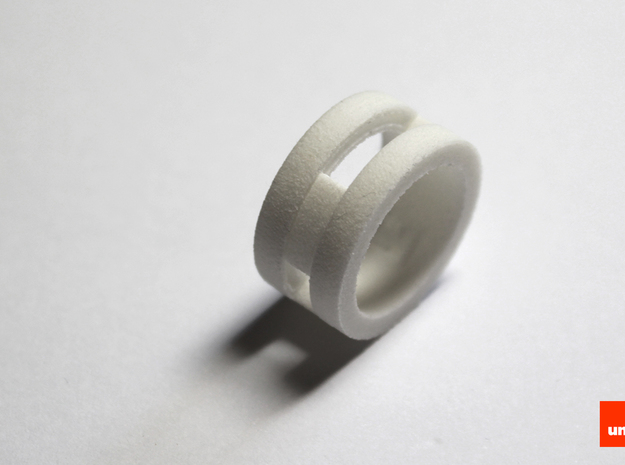Slider-ring (small) 3d printed In White Strong & Flexible