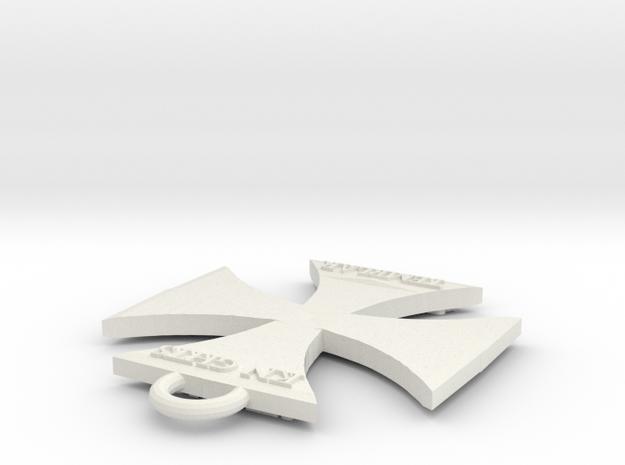 Templar-Keychain in White Natural Versatile Plastic