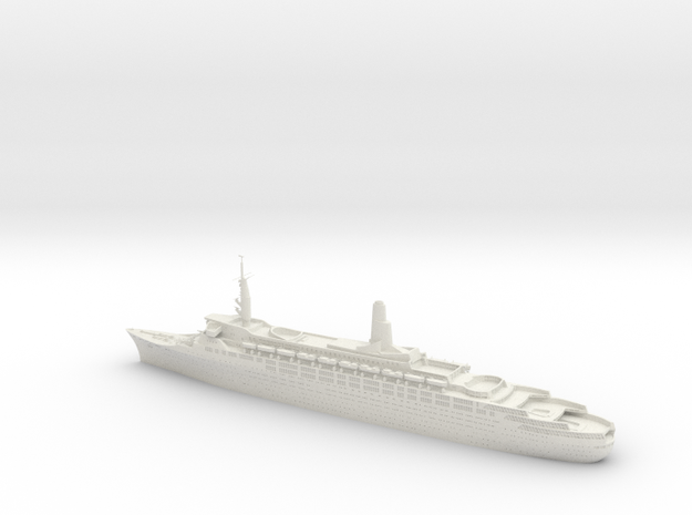 1:1200 Queen Elizabeth 2 QE2 (1969)  in White Natural Versatile Plastic