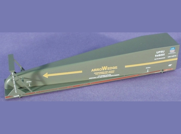 ArroWedge Container Load - HOscale in Smooth Fine Detail Plastic